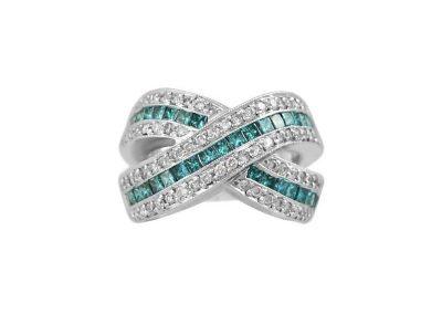 2.42 Carat Blue Diamond Ring