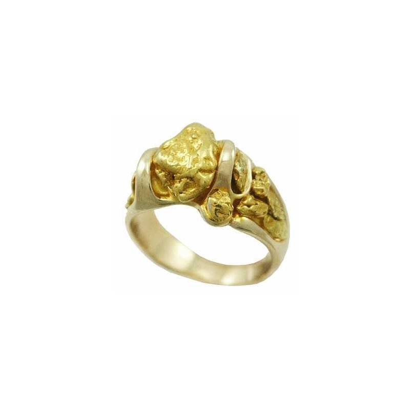 c04aa924b5bd5 Men's Heavy Free-form Natural Gold Nugget Ring