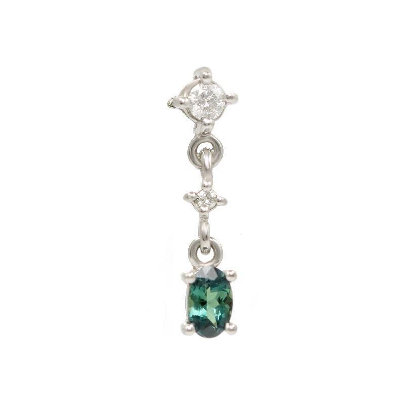 Natural Alexandrite Necklace: Simple Natural Alexandrite Diamond Drop Pendant