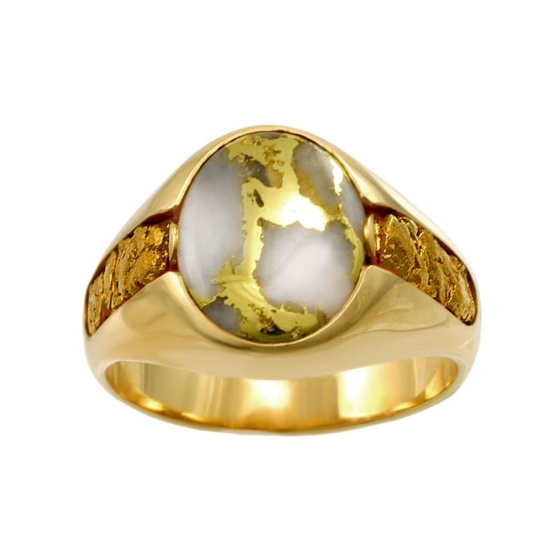 Best Men S Ring Ever Gold Quartz Alaska Jewelry