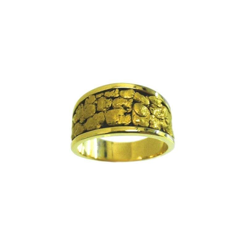 4fcfe94702d80 Men's Natural Gold Nugget wedding-style band with antiquing