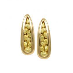 Elegant Gold Nugget Earrings EN890N