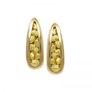 Elegant Gold Nugget Earrings EN890N