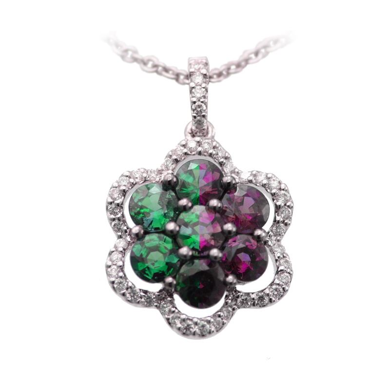 135 carat natural alexandrite flower pendant alaska jewelry 135 carat natural alexandrite flower pendant aloadofball Images