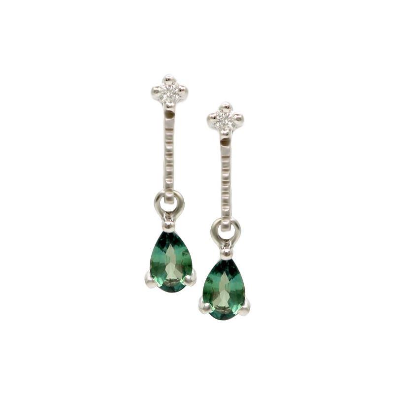 Natural Alexandrite Necklace: Tear Drop Natural Alexandrite Earrings