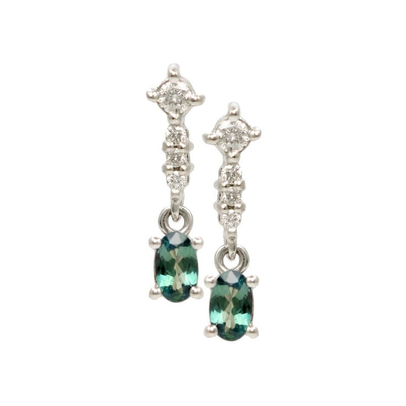 Natural Alexandrite Necklace: Lady's Natural Alexandrite Drop Earrings