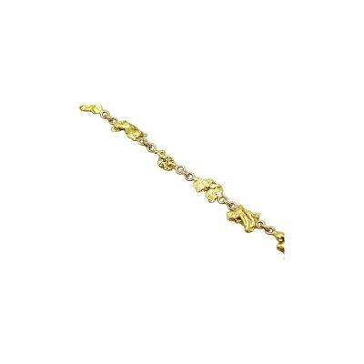 Gold Nugget Bracelets Archives - Alaska Jewelry